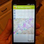 GPS Orienteering screen