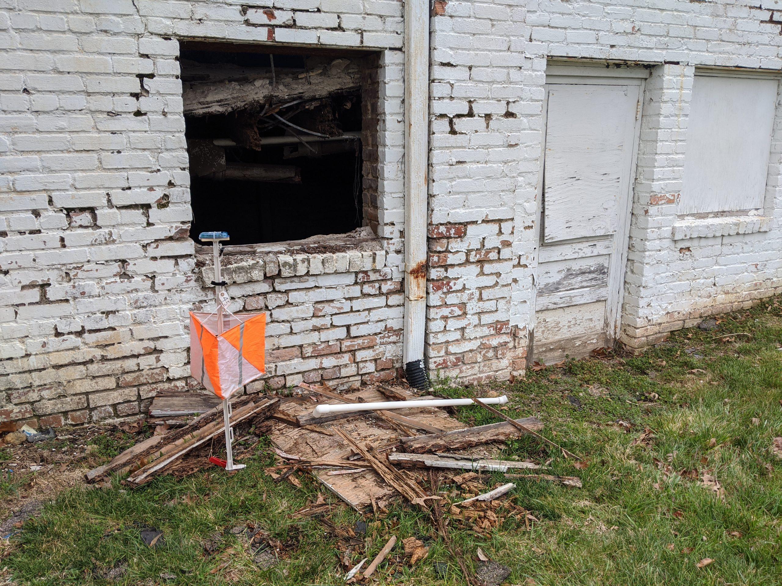Derelict gas station